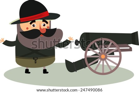 a soldier  in vector format - stock vector