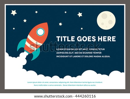 A space rocket themed design template for a flyer
