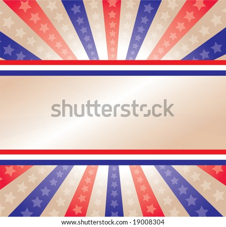 A stars and stripes background celebrating our election year - stock vector