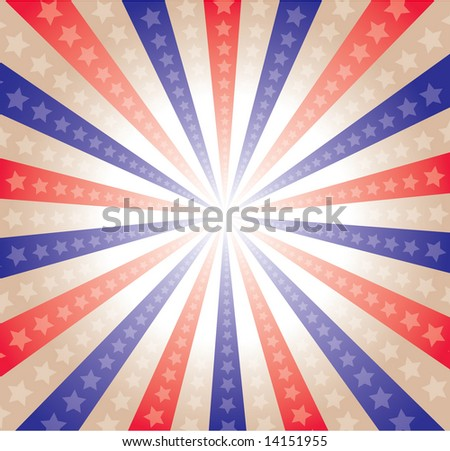 a stars and stripes background celebrating the 4th of July - stock vector
