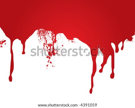 A stream of blood that is ideal as a page header or for a web site - stock vector