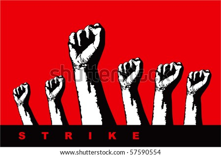 a strike illustration - stock vector