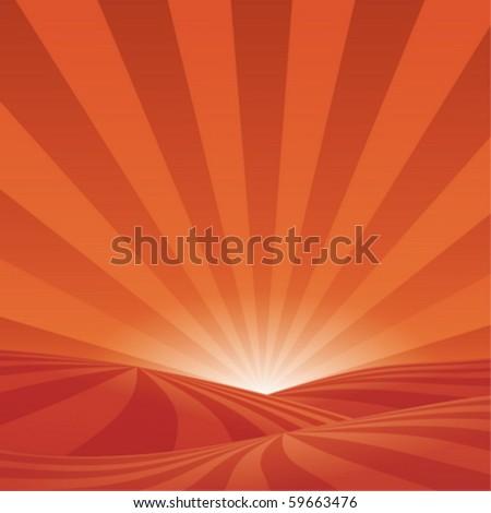 A stylish sunset background - stock vector