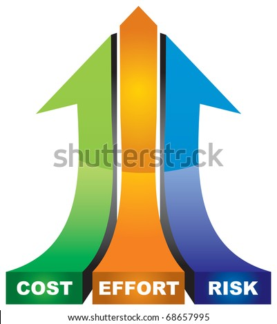 A successful business basics strategy - abstract illustration with arrows