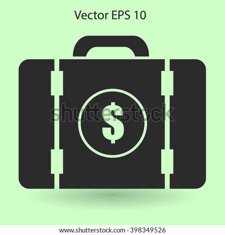a suitcase full of money vector illustration - stock vector