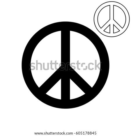 Symbol Peace Pigeon Foot Set Stock Vector Royalty Free 605178845