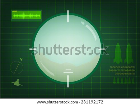 A Telescope Searching for its Target - stock vector