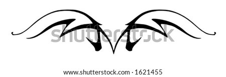 A tribal horse design element, would make a great tattoo - stock vector