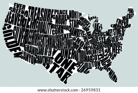 State Names Stock Images RoyaltyFree Images Vectors Shutterstock - Free picture of us map without state names