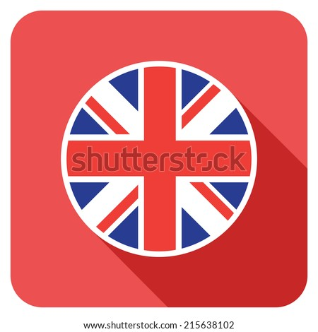 a uk flat flag icon - stock vector