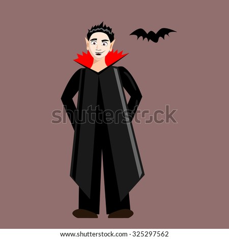 A vampire with his bat