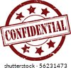 A  Vector Confidential Rubber Stamp Illustration - stock photo