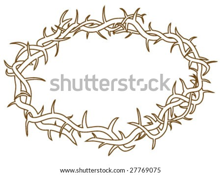 Vector File Outlines Crown Thorns Stock Vector 27769075 - Shutterstock