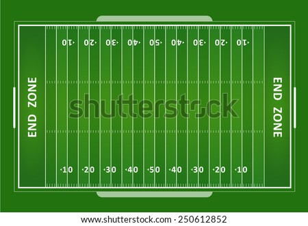 A vector grass textured American football field. EPS 10. - stock vector