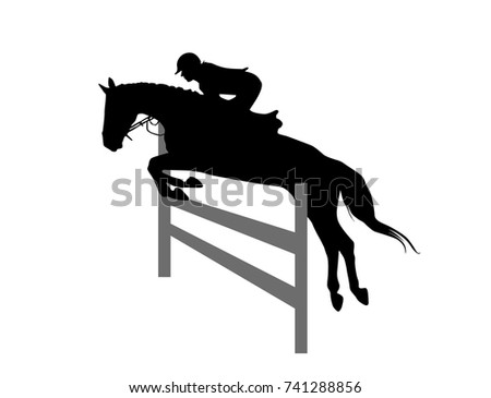 how to draw a horse and rider jumping