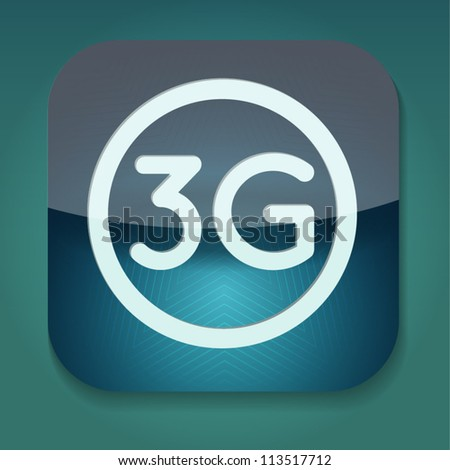 a vector icon with word 3g