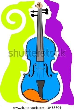 a vector, illustration icon design for a violin - stock vector