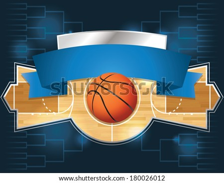 A vector illustration of a basketball tournament concept. EPS 10. File contains transparencies. - stock vector