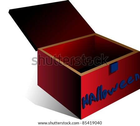 A vector illustration of a box. All obgects can be moved edited and scaled separetly without quality loss. - stock vector