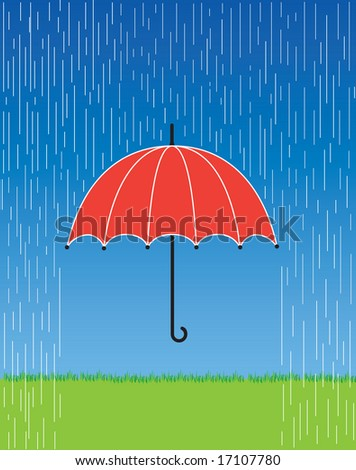 Hand holding umbrella rain 3d illustration stock for Bright illustration agency