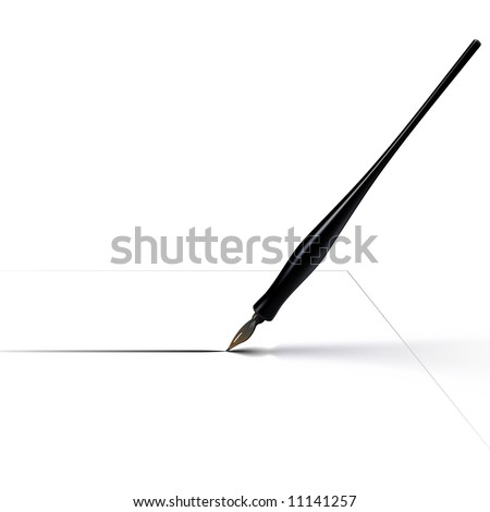 Pen and ink drawing stock images royalty free images Easy calligraphy pen
