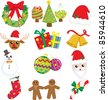A vector illustration of a collection of Christmas icons - stock vector