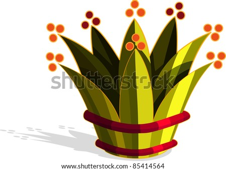 A vector illustration of a crown. All objects can be moved edited and scaled separately without quality loss. - stock vector