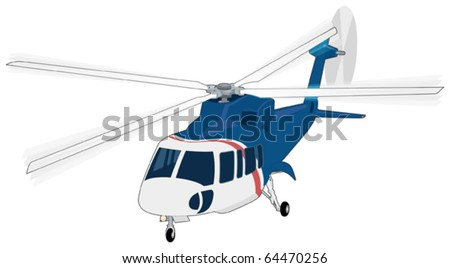 A vector illustration of a helicopter - stock vector