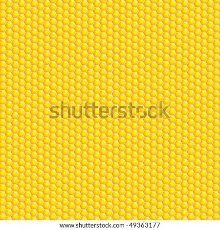 A vector illustration of a honeycomb background - stock vector