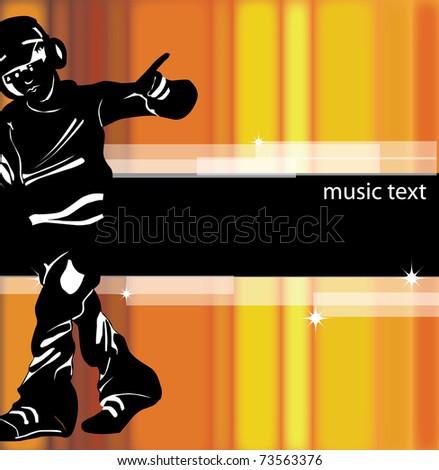 A vector illustration of a music DJ - stock vector