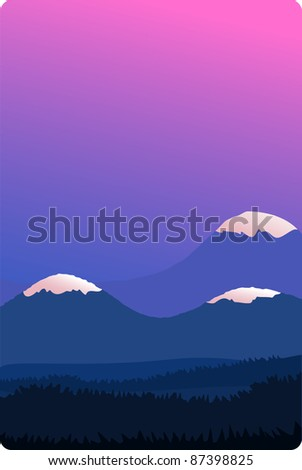 A vector illustration of a nature landscape. Can be scaled without quality loss. - stock vector