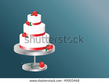 Three Tier Cake Stock Images Royalty Free Images Vectors