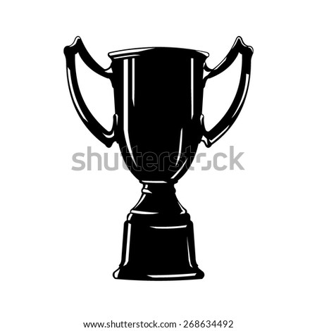 A vector illustration of a trophy cup. Trophy Cup Winner. Trophy for first prize. - stock vector