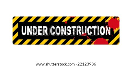 A vector illustration of a under construction sign