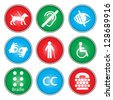 A vector illustration of accessibility icon sets - stock photo