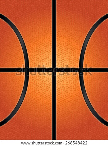 A vector illustration of an orange basketball textured background. Room for copy. Vector EPS 10. EPS file contains transparencies. - stock vector