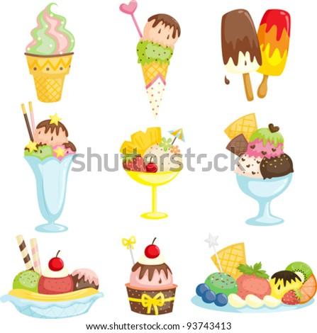 A vector illustration of delicious ice cream - stock vector