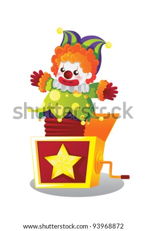 A vector illustration of  Jack in the box - stock vector