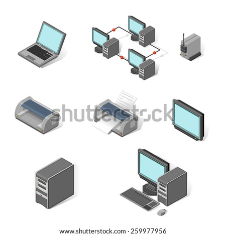 A vector illustration of multimedia icons. Multimedia icons. Multimedia technology Icon set. - stock vector