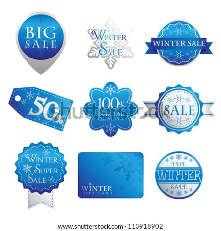 A vector illustration of sales tags or labels