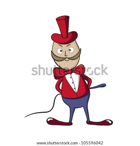 A vector illustration of smiling cartoon tamer. - stock vector