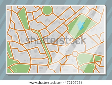 A vector illustration of texture city map illustration