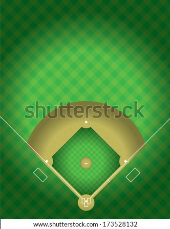 A vector illustration of the arial view of a baseball field. EPS 10. File contains transparencies. - stock vector