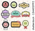 A vector illustration of vintage bakery label sets - stock vector