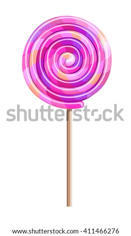 A vector illustration with a single multicolored lollipop