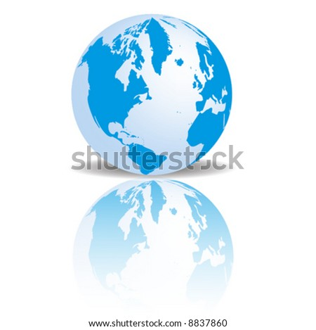 A vector image of a 3D globe