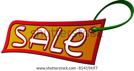 A vector image of a sale label. All objects are separated, the can be scaled, edited or recolored for 5 minutes - stock vector
