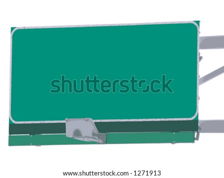 A vector of a highway exit sign. Blank for your text - stock vector