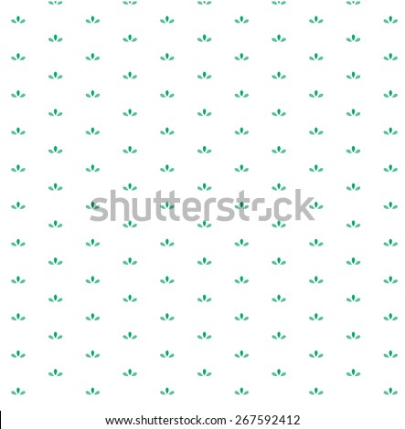 A vector pattern with small natural graphic element. - stock vector