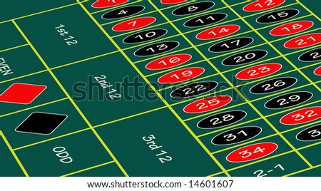 A vector roulette table. - stock vector